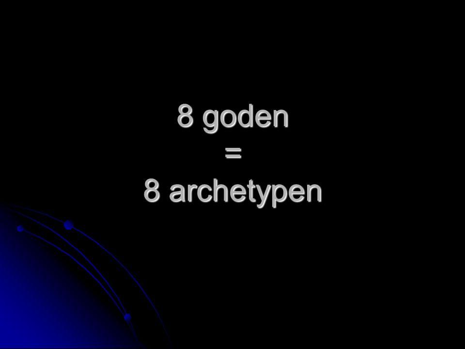 1. Zeus 2. Poseidon 3. Hades 4. Apollo 5. Hermes 6. Ares 7. Hephaistos 8. Dionysos