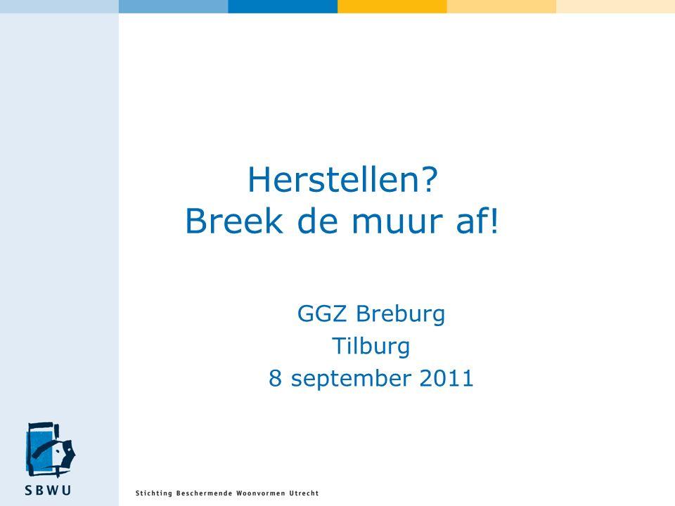 Herstellen? Breek de muur af! GGZ Breburg Tilburg 8 september 2011