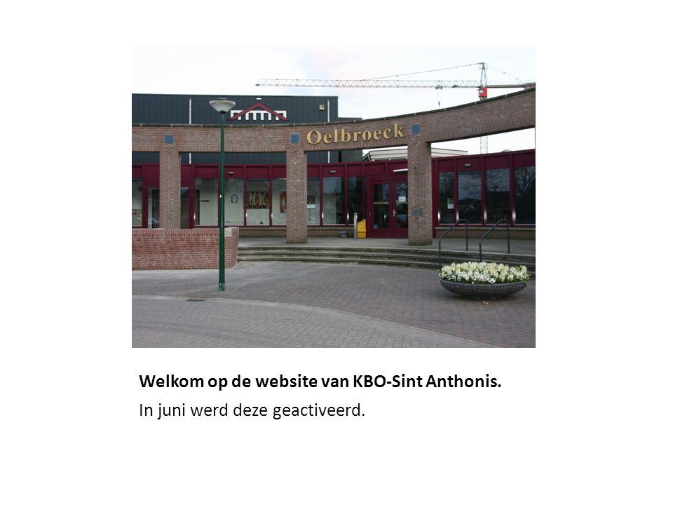 Welkom op de website van KBO-Sint Anthonis. In juni werd deze geactiveerd.