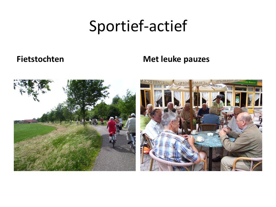 Sportief-actief FietstochtenMet leuke pauzes