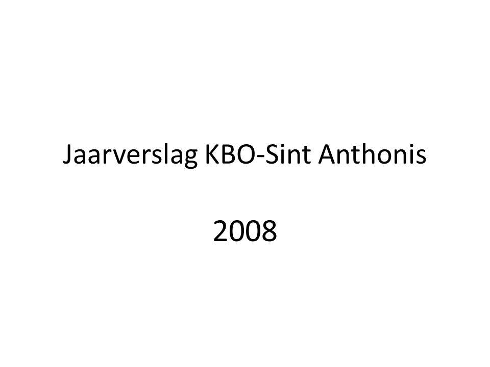 Jaarverslag KBO-Sint Anthonis 2008