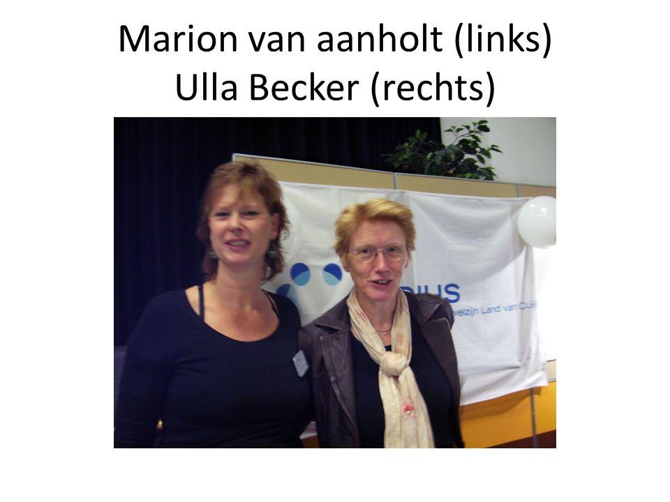 Marion van aanholt (links) Ulla Becker (rechts)