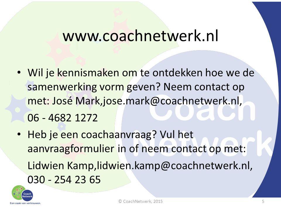 www.coachnetwerk.nl Wil je kennismaken om te ontdekken hoe we de samenwerking vorm geven.