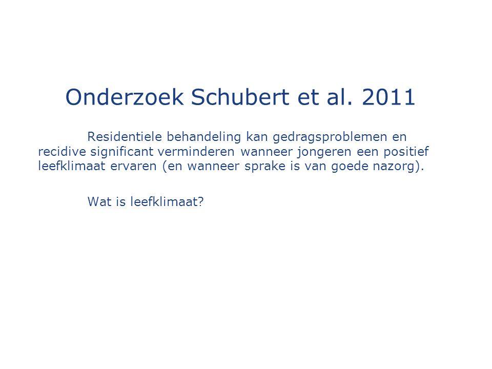 Onderzoek Schubert et al.