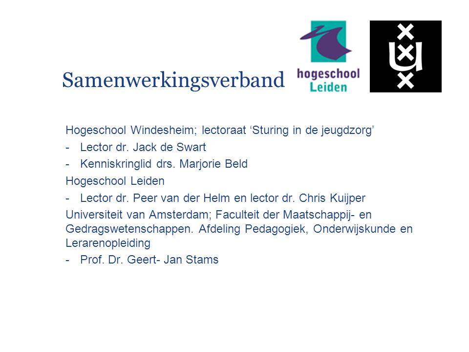 Samenwerkingsverband Hogeschool Windesheim; lectoraat 'Sturing in de jeugdzorg' -Lector dr.