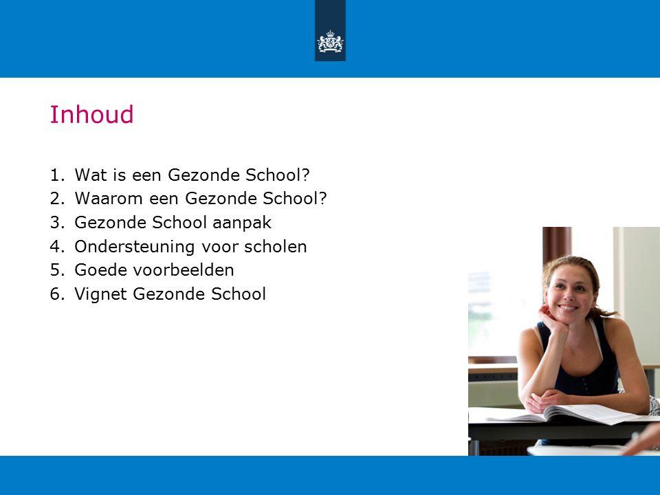 Inhoud 1.Wat is een Gezonde School. 2.Waarom een Gezonde School.