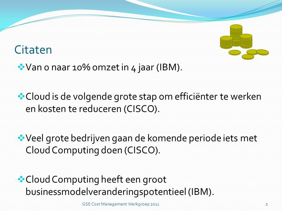 Citaten  Van 0 naar 10% omzet in 4 jaar (IBM).
