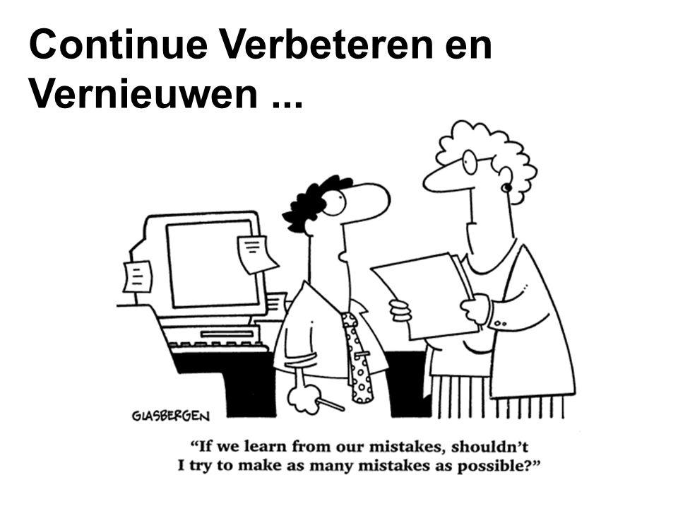 Continue Verbeteren en Vernieuwen...