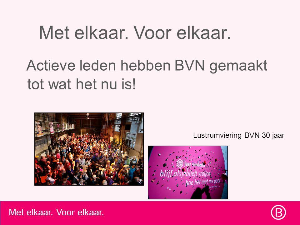 Met elkaar. Voor elkaar. Wat is je beeld van BVN & wat wil je binnen BVN doen? ?