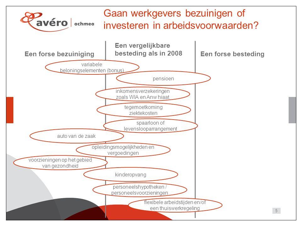 5 Gaan werkgevers bezuinigen of investeren in arbeidsvoorwaarden.