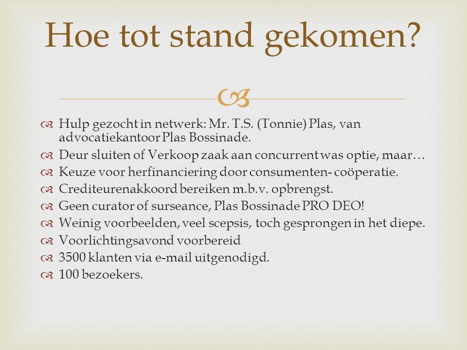   Hulp gezocht in netwerk: Mr. T.S. (Tonnie) Plas, van advocatiekantoor Plas Bossinade.
