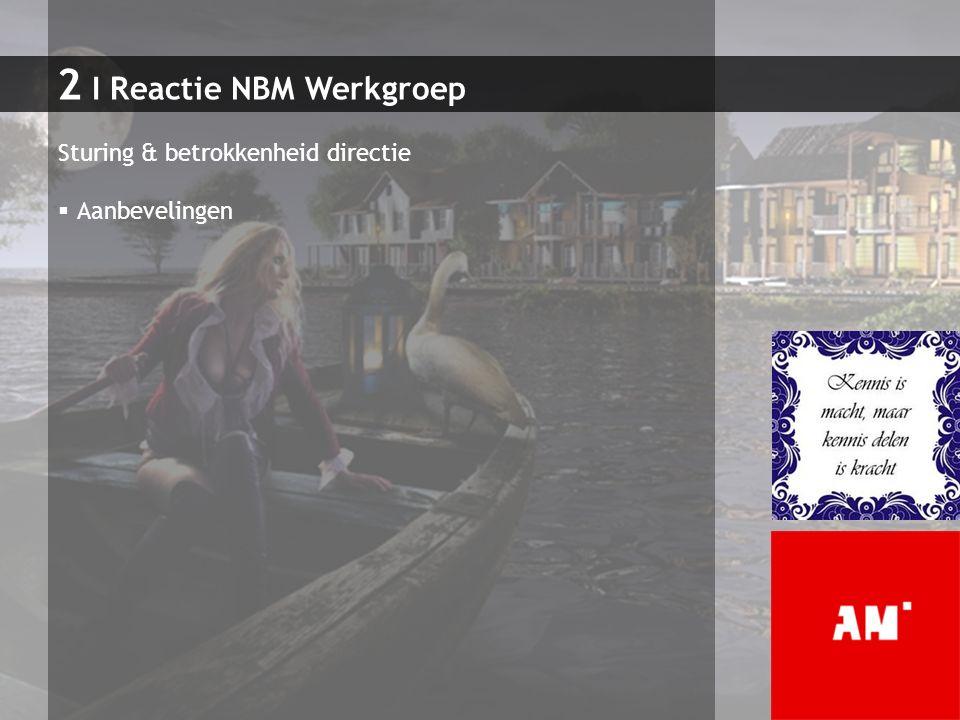 2 I Reactie NBM Werkgroep Sturing & betrokkenheid directie  Aanbevelingen