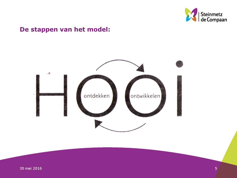 30 mei 20165 De stappen van het model: