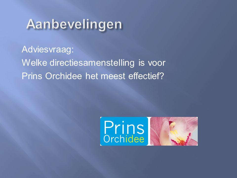 Adviesvraag: Welke directiesamenstelling is voor Prins Orchidee het meest effectief?
