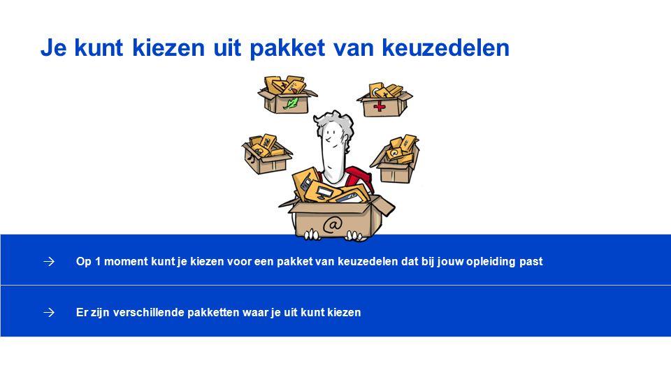 Je kunt kiezen uit pakket van keuzedelen → Op 1 moment kunt je kiezen voor een pakket van keuzedelen dat bij jouw opleiding past → Er zijn verschillen