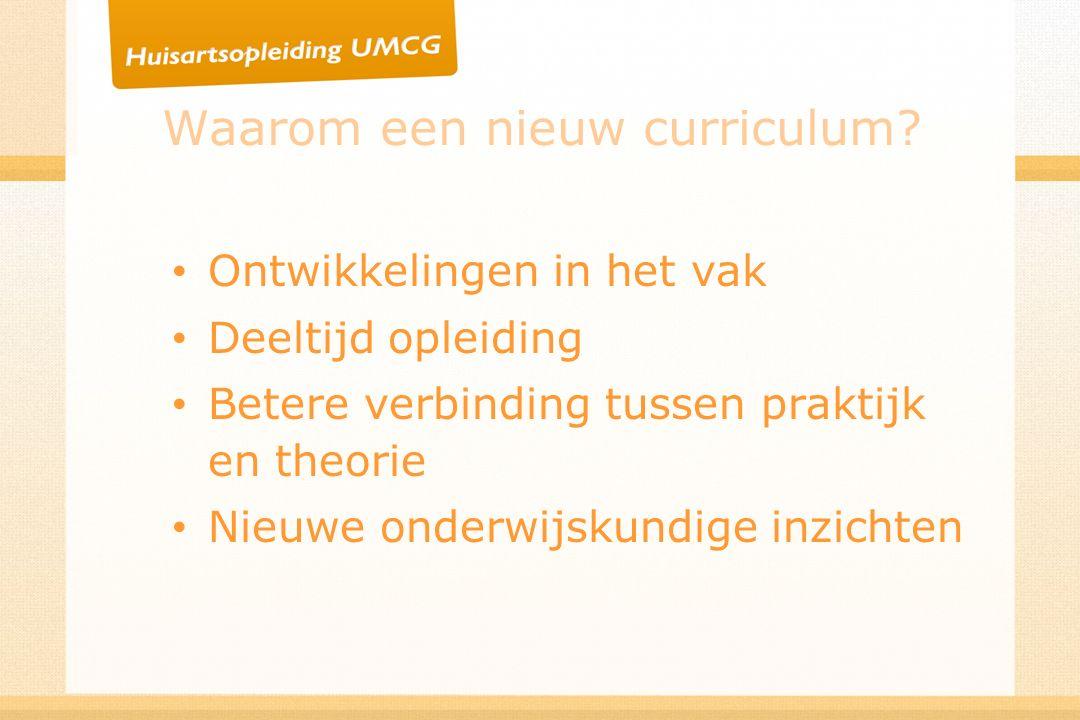 Waarom een nieuw curriculum.