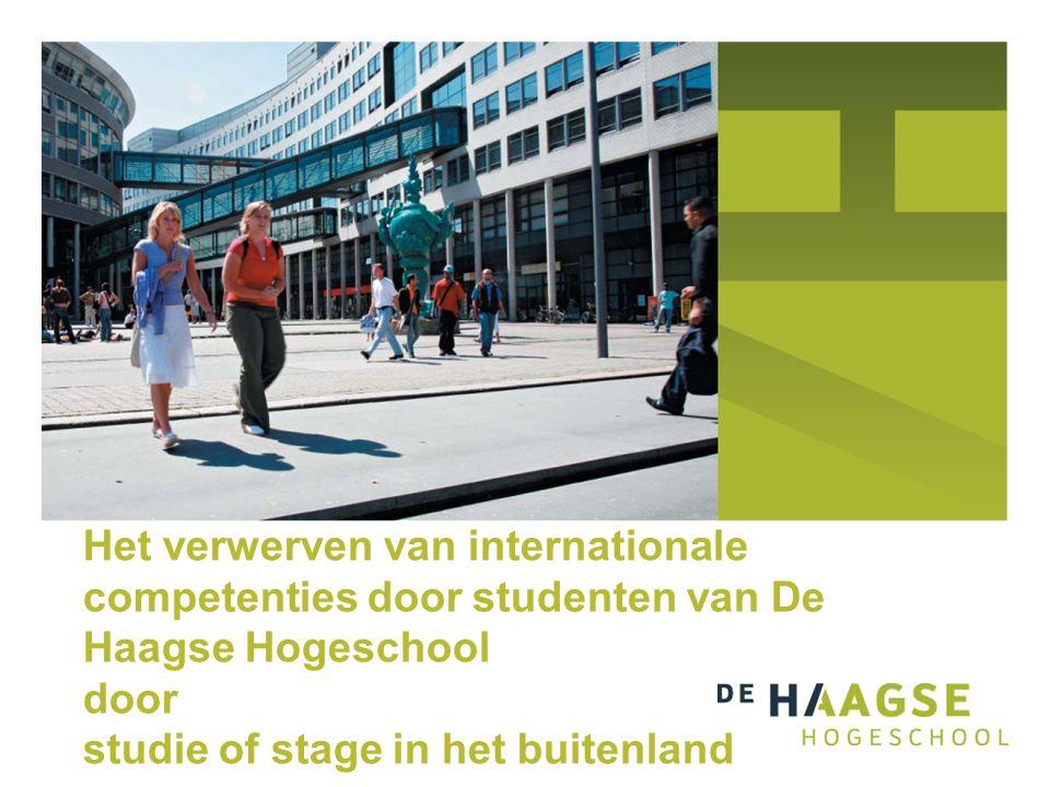 Het verwerven van internationale competenties door studenten van De Haagse Hogeschool door studie of stage in het buitenland