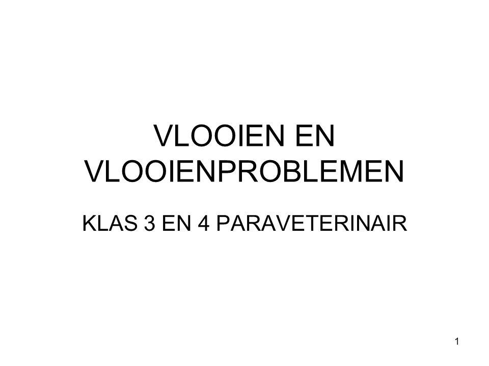 VLOOIEN EN VLOOIENPROBLEMEN KLAS 3 EN 4 PARAVETERINAIR 1