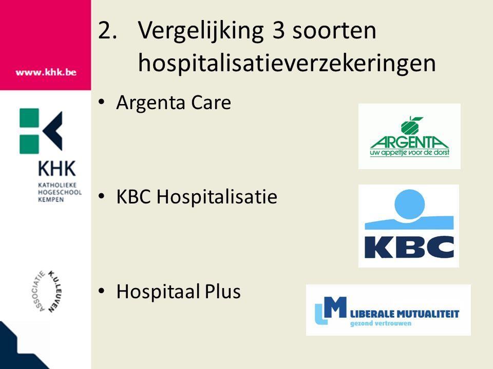 2.1Polisvoorwaarden 2.1.1Tandverzorging Argenta Care KBC Hospitalisatie Hospitaal Plus wordt vergoed uitzonderlijk tandprothesen en tandimplantaten wordt niet vergoed wordt vergoed ook tandprothesen, therapeutische prothesen en orthopedische apparaten