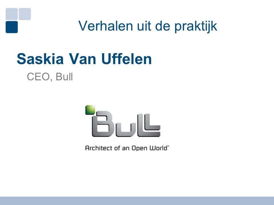 Verhalen uit de praktijk Saskia Van Uffelen CEO, Bull