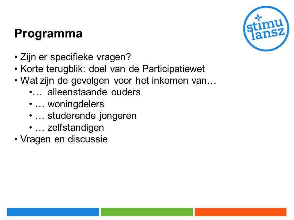 Programma Zijn er specifieke vragen.