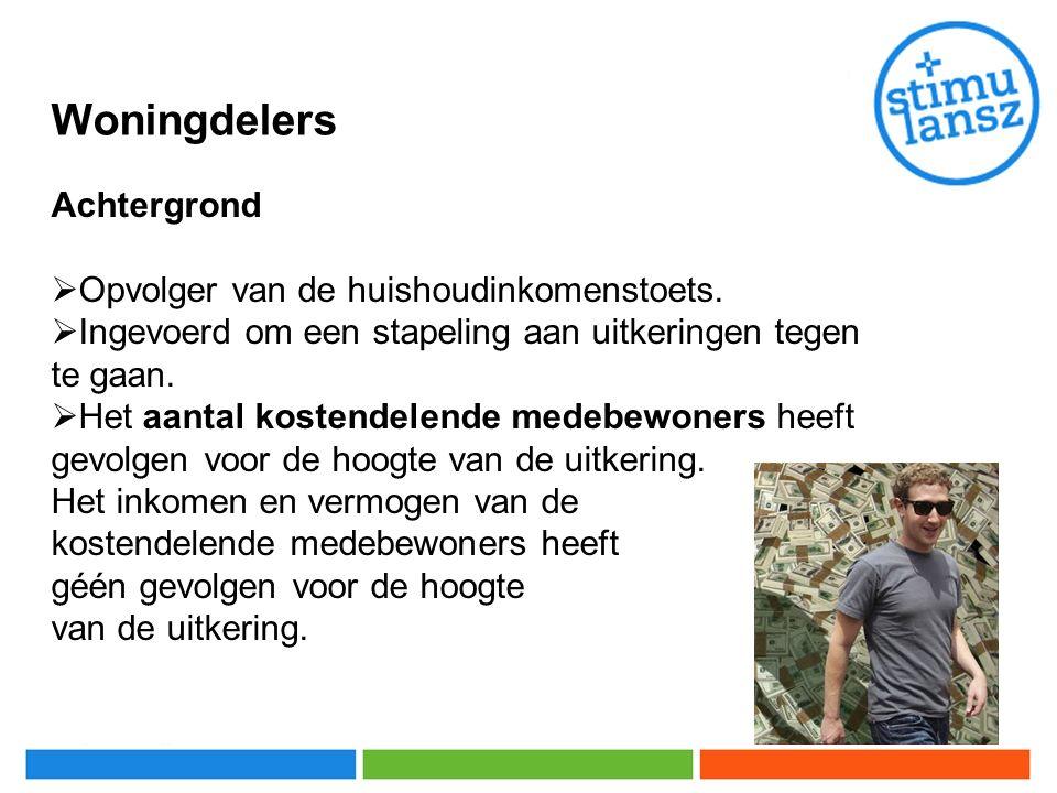 Woningdelers Achtergrond  Opvolger van de huishoudinkomenstoets.