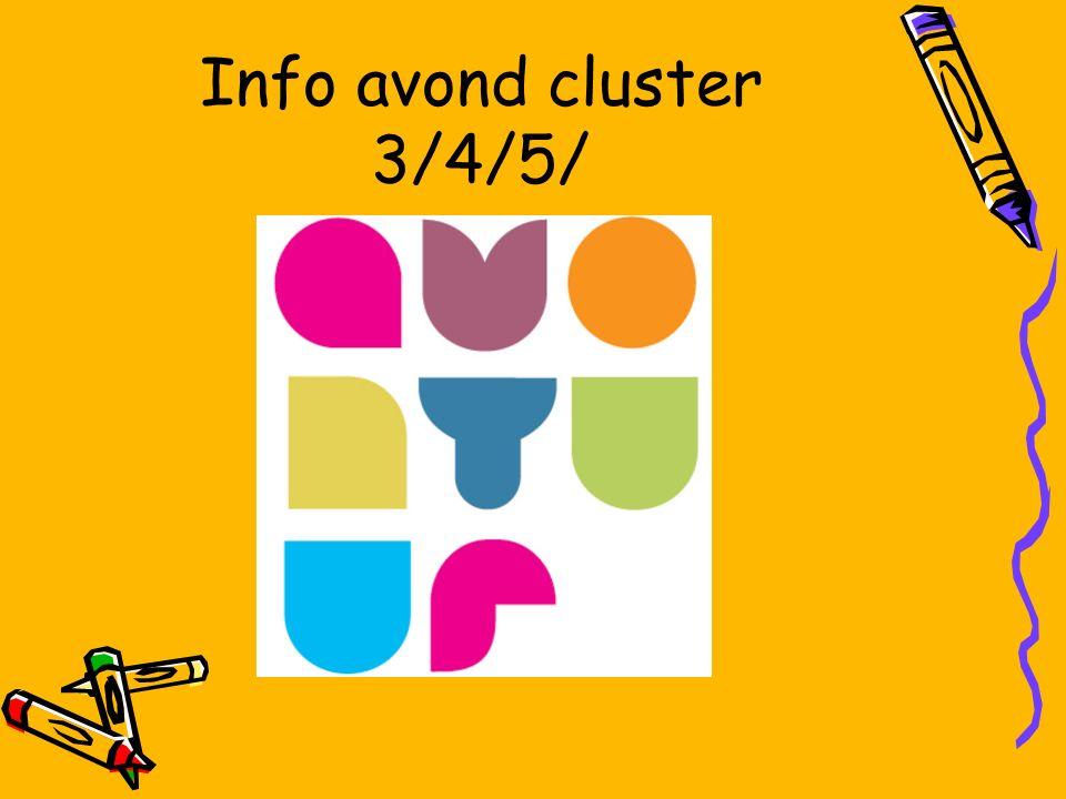 Info avond cluster 3/4/5/