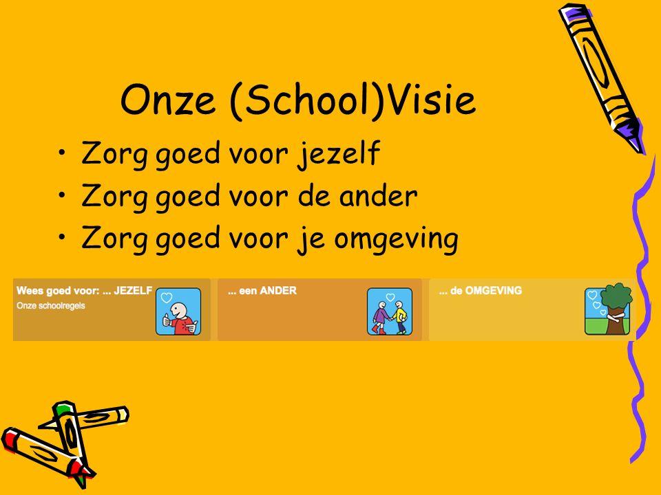 Onze (School)Visie Zorg goed voor jezelf Zorg goed voor de ander Zorg goed voor je omgeving