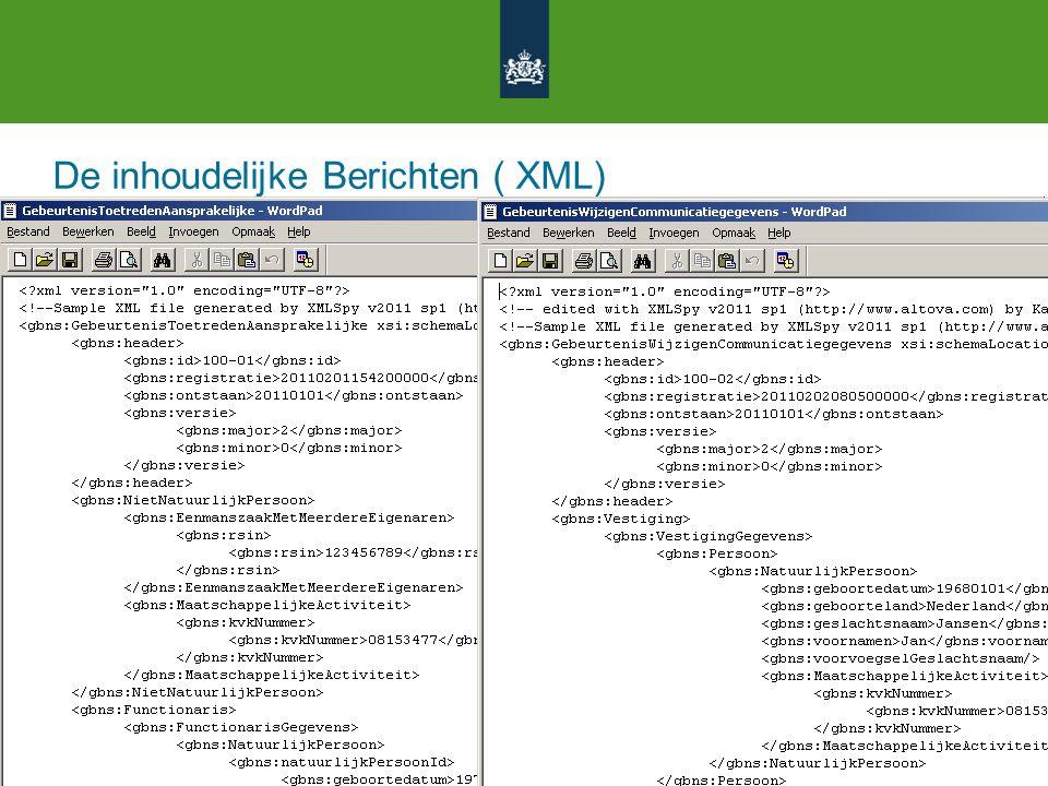 De inhoudelijke Berichten ( XML)