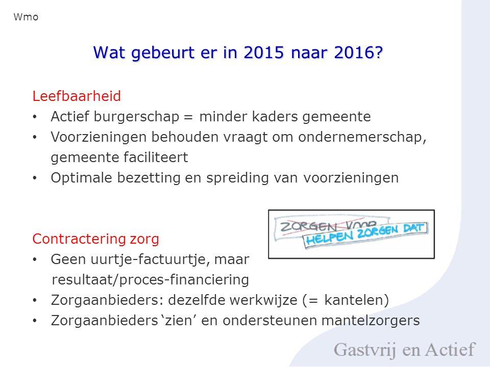 Wat gebeurt er in 2015 naar 2016.