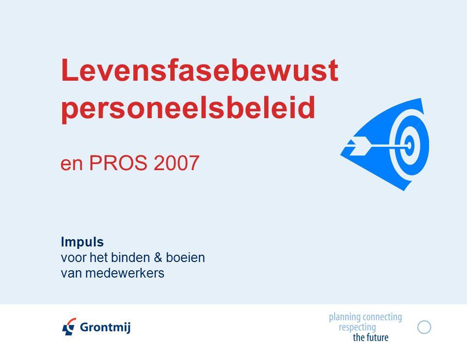 Levensfasebewust personeelsbeleid en PROS 2007 Impuls voor het binden & boeien van medewerkers