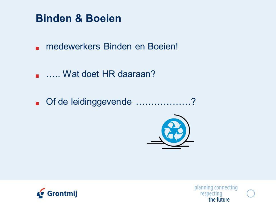 Binden & Boeien  medewerkers Binden en Boeien.  …..