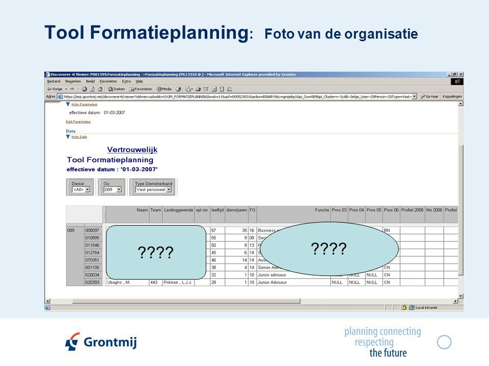 Tool Formatieplanning : Foto van de organisatie