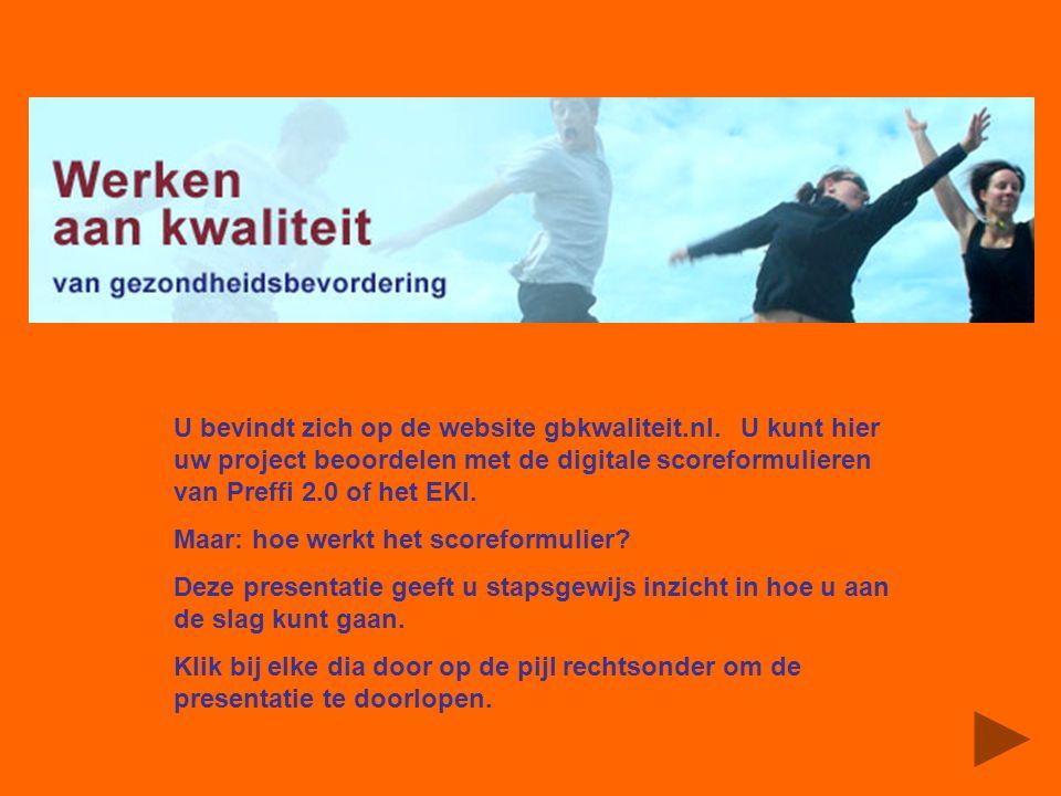 U bevindt zich op de website gbkwaliteit.nl.