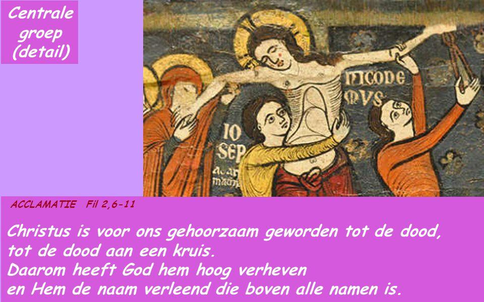 Fil 2,6-11 Broeders en zusters, Hij die bestond in goddelijke majesteit heeft zich niet willen vastklampen aan de gelijkheid met God: Hij heeft zich van zichzelf ontdaan en het bestaan van een slaaf aangenomen.