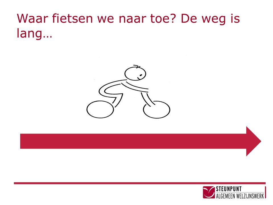 Waar fietsen we naar toe? De weg is lang…