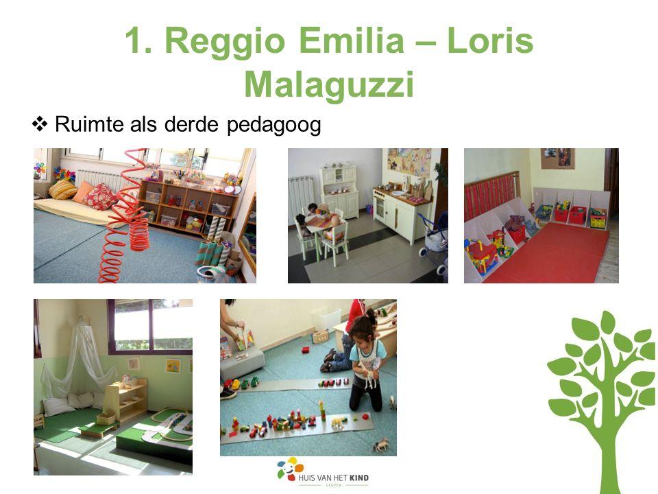 1. Reggio Emilia – Loris Malaguzzi  Ruimte als derde pedagoog