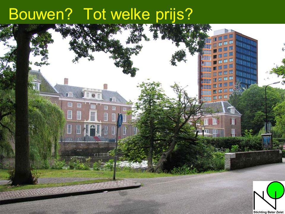 13 Enkele kenmerken van Zeist: Hoog aandeel sociale woningbouw (Zeist: 36% - landelijk ligt dit op 32%) Grondoppervlak 48,5 km 2, waarvan –Agrarisch 13,5 % (NL 68,3%) –Bos & natuur: 45,1 % –Recreatieterrein: 6,9 % –Bebouwd: 29,9 % Inwoners > 65 jr: 17,4 % (NL 14,3 %, 24 % in 2030) Alleenstaand: 40 % (NL 35%) Aantal arbeidsplaatsen groter dan aantal inwoners dat voor werk in aanmerking komt (10.000 méér arbeidsplaatsen) Omgeving Utrecht vormt verkeersknooppunt van NL Zeist ligt temidden van meerdere ecologische zones