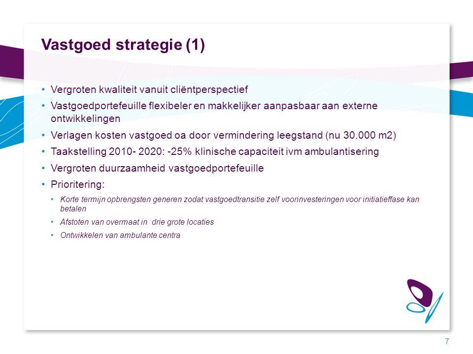 Vastgoed strategie (2) Fase 1: kostenreductie en saneren Fase 2: kwaliteit en waarde Fase 3: continuïteit en toegankelijkheid 8