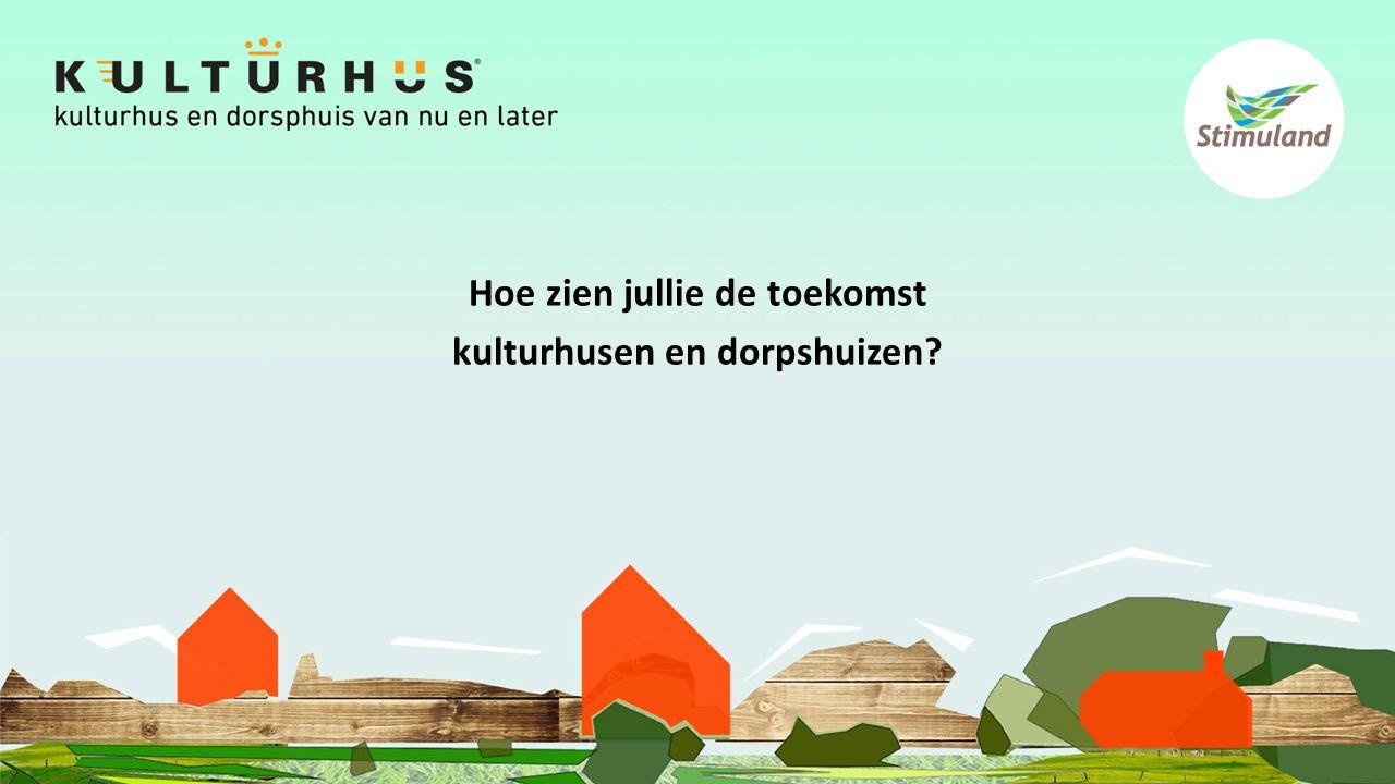 Hoe zien jullie de toekomst kulturhusen en dorpshuizen?