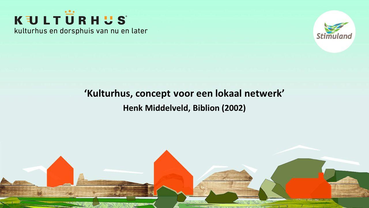 'Kulturhus, concept voor een lokaal netwerk' Henk Middelveld, Biblion (2002)