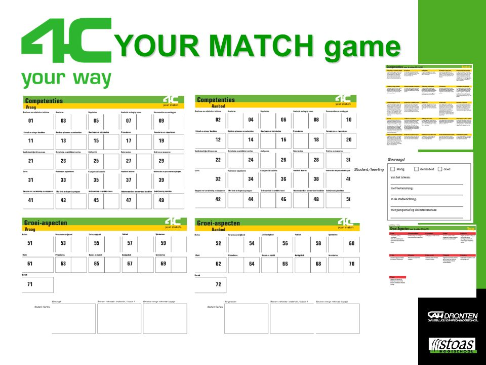 YOUR MATCH game