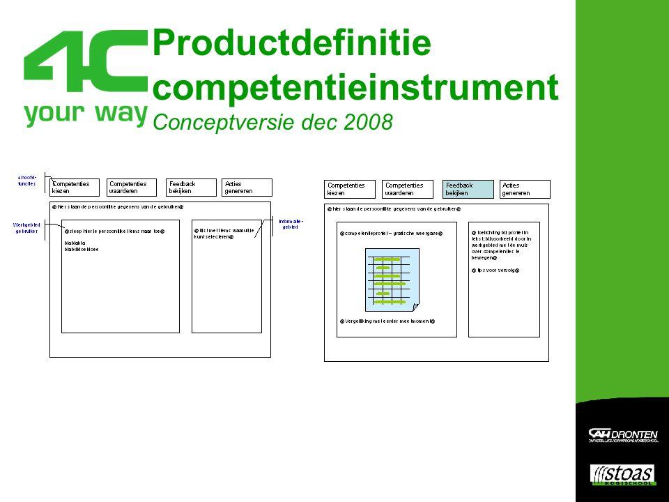 Productdefinitie competentieinstrument Conceptversie dec 2008