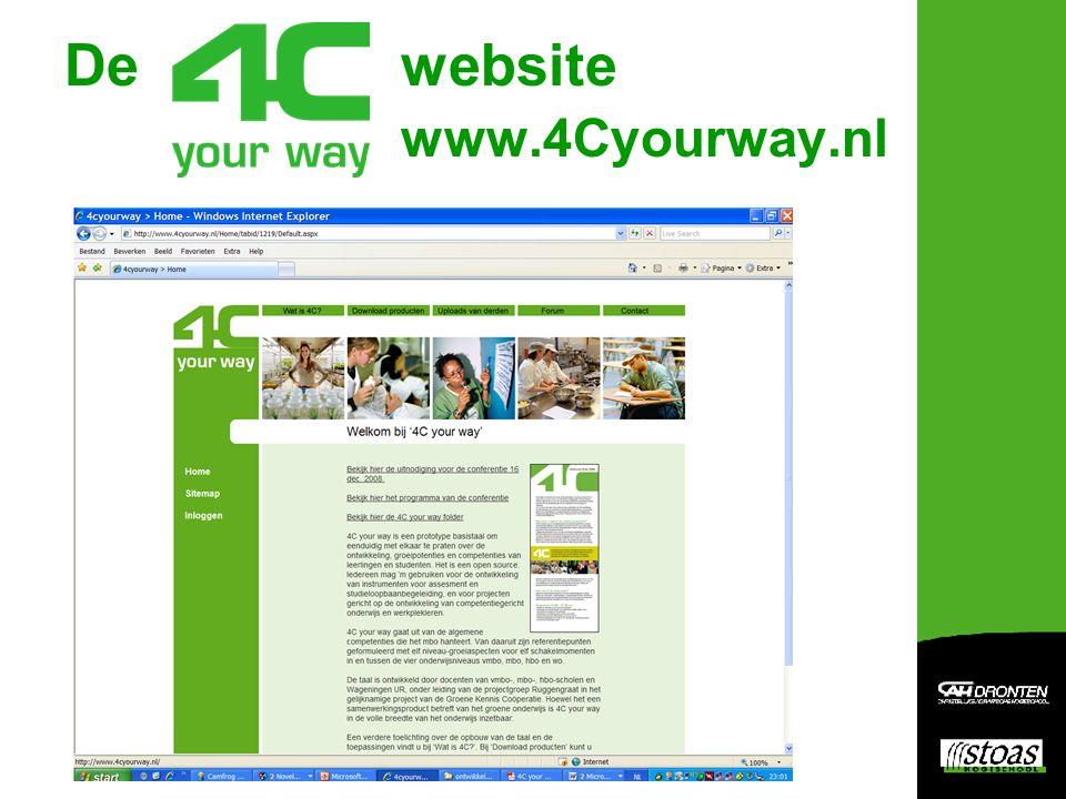 De website www.4Cyourway.nl
