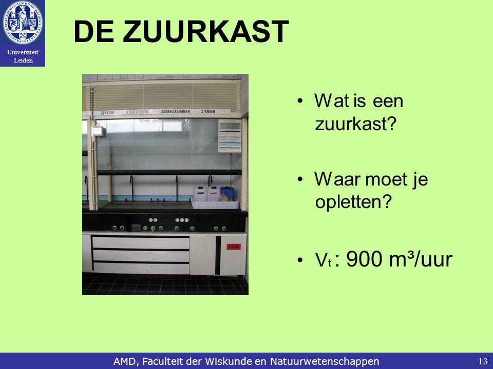 Universiteit Leiden AMD, Faculteit der Wiskunde en Natuurwetenschappen13 DE ZUURKAST Wat is een zuurkast.