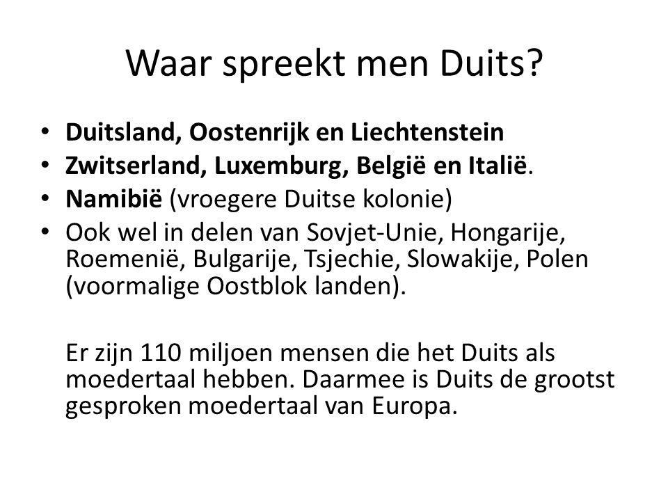 Waar spreekt men Duits.
