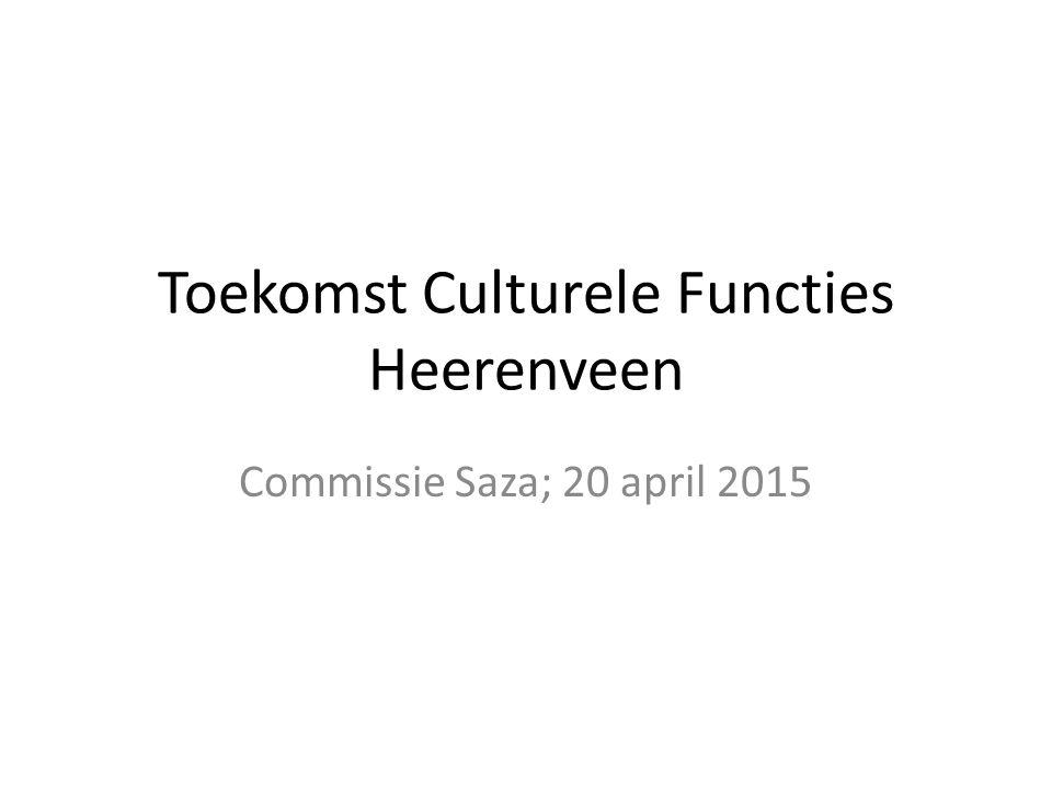 Toekomst Culturele Functies Heerenveen Commissie Saza; 20 april 2015