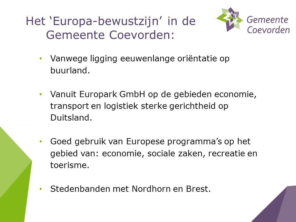 Het 'Europa-bewustzijn' in de Gemeente Coevorden: Vanwege ligging eeuwenlange oriëntatie op buurland.
