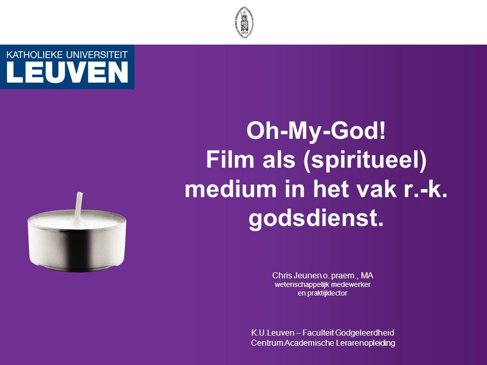 Filmmateriaal op T HOMAS Videodatabank Dag van de godsdienstleraren 2010 K.U.Leuven Campus Kortrijk 42