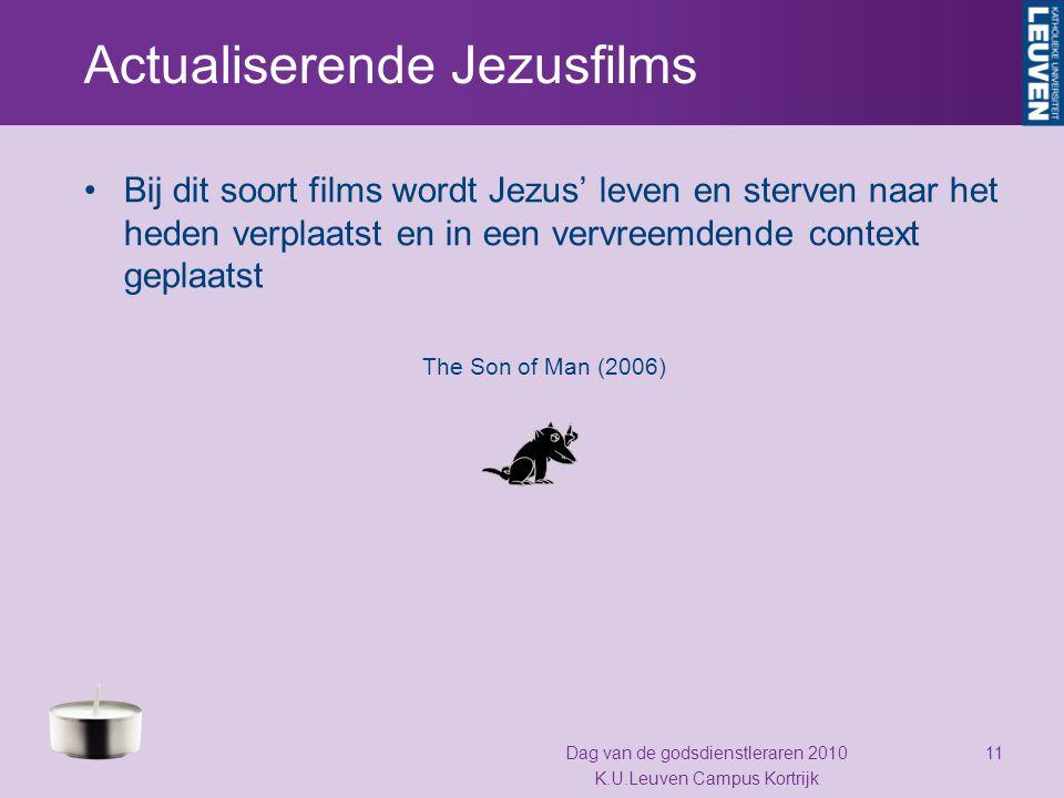 Actualiserende Jezusfilms Bij dit soort films wordt Jezus' leven en sterven naar het heden verplaatst en in een vervreemdende context geplaatst The So